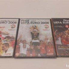 Coleccionismo deportivo: 3 DVD ESPAÑA FÚTBOL UEFA EURO 2008 Y 2012. Lote 194614106