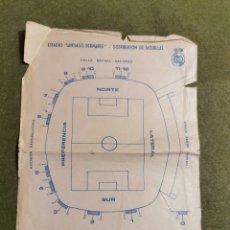Coleccionismo deportivo: DOCUMENTO DISTRIBUCIÓN DE TAQUILLAS DEL REAL MADRID ESTADIO SANTIAGO BERNABÉU. Lote 194615172