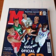 Coleccionismo deportivo: GUÍA OFICIAL DE BALONCESTO ACB MARCA 2002 JUNTAMOS A LOS CINCO CAMPEONES. Lote 194662973