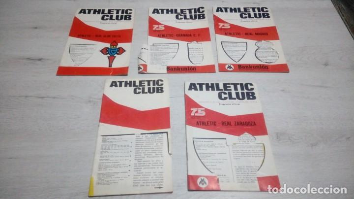 LOTE 5 PROGRAMAS DEL ATHLETIC CLUB DE BILBAO TEMPORADA 73 - 74. (Coleccionismo Deportivo - Documentos de Deportes - Otros)
