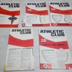 Coleccionismo deportivo: LOTE 5 PROGRAMAS DEL ATHLETIC CLUB DE BILBAO TEMPORADA 73 - 74.. Lote 194739561