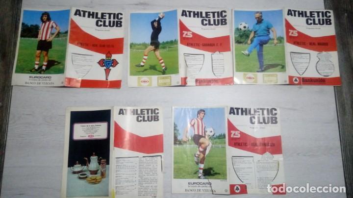 Coleccionismo deportivo: Lote 5 programas del Athletic Club de Bilbao temporada 73 - 74. - Foto 2 - 194739561
