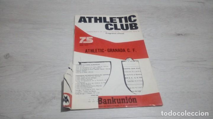 Coleccionismo deportivo: Lote 5 programas del Athletic Club de Bilbao temporada 73 - 74. - Foto 13 - 194739561