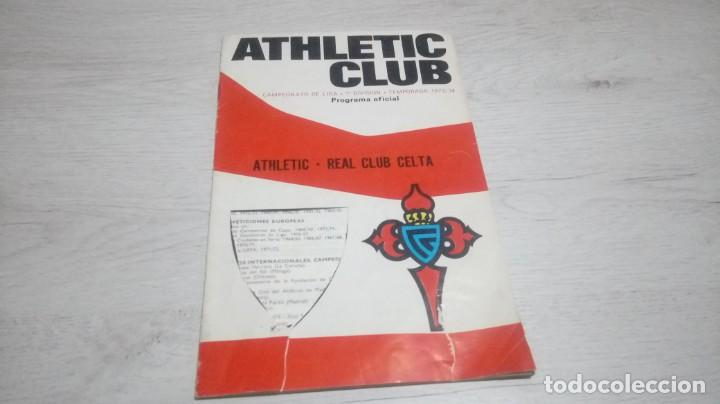 Coleccionismo deportivo: Lote 5 programas del Athletic Club de Bilbao temporada 73 - 74. - Foto 19 - 194739561
