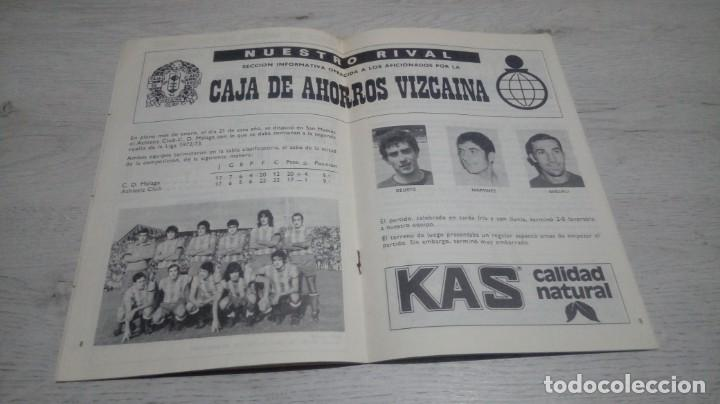 Coleccionismo deportivo: Programa oficial Athletic Club de Bilbao - C. D Malaga temporada 73 - 74. - Foto 4 - 194740041
