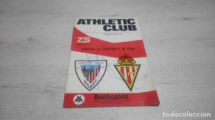 PROGRAMA OFICIAL ATHLETIC CLUB DE BILBAO - R. SPORTING C. DE GIJON TEMPORADA 73 - 74. (Coleccionismo Deportivo - Documentos de Deportes - Otros)