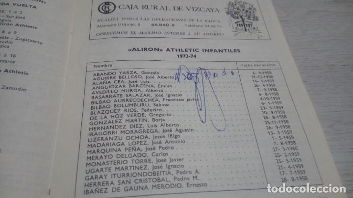 Coleccionismo deportivo: Programa oficial Athletic Club de Bilbao - R. Sporting C. De Gijon temporada 73 - 74. - Foto 3 - 194741072