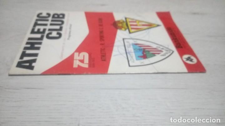Coleccionismo deportivo: Programa oficial Athletic Club de Bilbao - R. Sporting C. De Gijon temporada 73 - 74. - Foto 9 - 194741072
