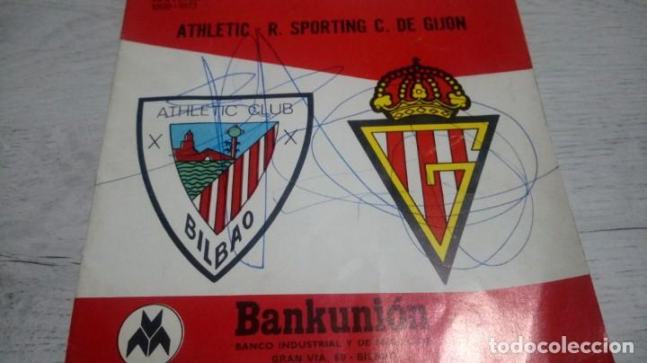 Coleccionismo deportivo: Programa oficial Athletic Club de Bilbao - R. Sporting C. De Gijon temporada 73 - 74. - Foto 10 - 194741072