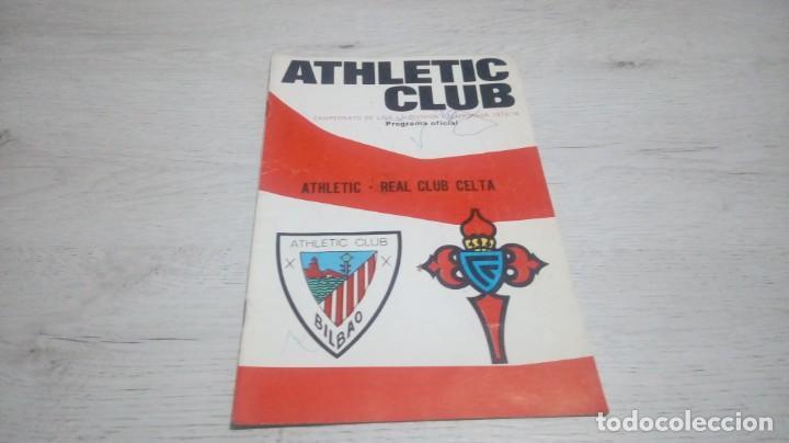 PROGRAMA OFICIAL ATHLETIC CLUB DE BILBAO - REAL CLUB CELTA TEMPORADA 73 - 74. (Coleccionismo Deportivo - Documentos de Deportes - Otros)