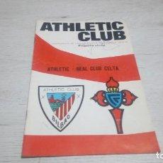 Coleccionismo deportivo: PROGRAMA OFICIAL ATHLETIC CLUB DE BILBAO - REAL CLUB CELTA TEMPORADA 73 - 74.. Lote 194741542
