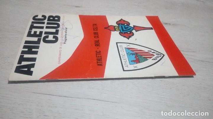Coleccionismo deportivo: Programa oficial Athletic Club de Bilbao - Real Club Celta temporada 73 - 74. - Foto 3 - 194741542