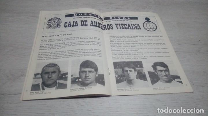 Coleccionismo deportivo: Programa oficial Athletic Club de Bilbao - Real Club Celta temporada 73 - 74. - Foto 4 - 194741542
