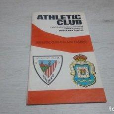 Coleccionismo deportivo: PROGRAMA OFICIAL ATHLETIC CLUB DE BILBAO - U. D. LAS PALMAS TEMPORADA 74 - 75.. Lote 194741788