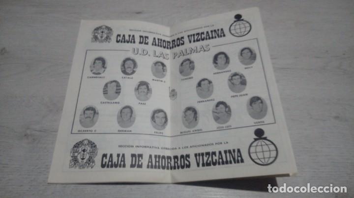 Coleccionismo deportivo: Programa oficial Athletic Club de Bilbao - U. D. Las Palmas temporada 74 - 75. - Foto 3 - 194741788