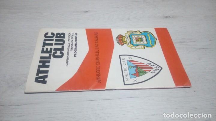 Coleccionismo deportivo: Programa oficial Athletic Club de Bilbao - U. D. Las Palmas temporada 74 - 75. - Foto 4 - 194741788