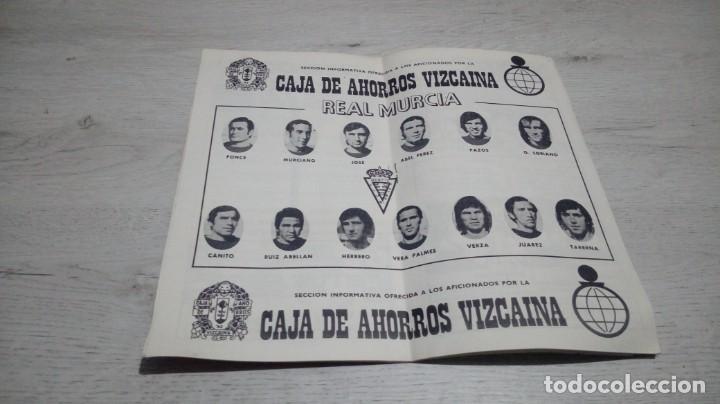 Coleccionismo deportivo: Programa oficial Athletic Club de Bilbao - Real Murcia temporada 74 - 75.. - Foto 3 - 194742106