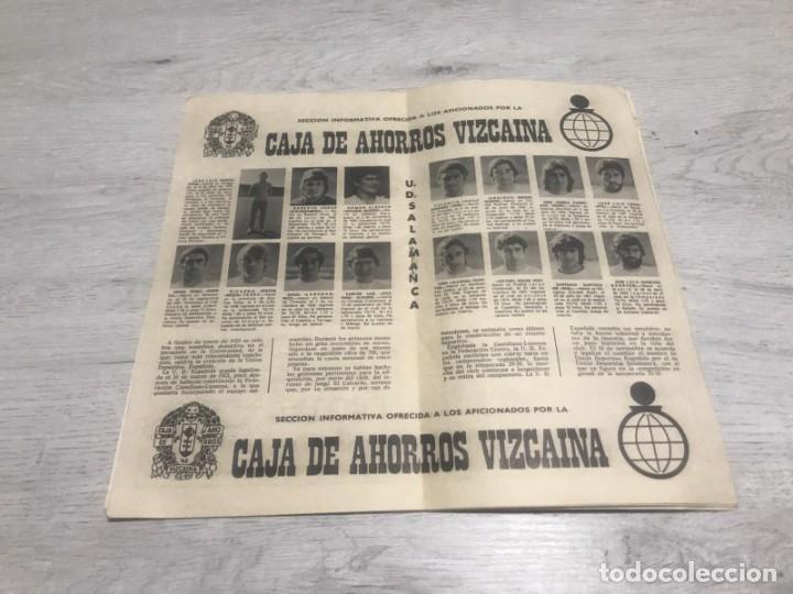 Coleccionismo deportivo: Programa oficial Athletic Club de Bilbao - U.D. Salamanca 74 - 75. - Foto 2 - 194749738