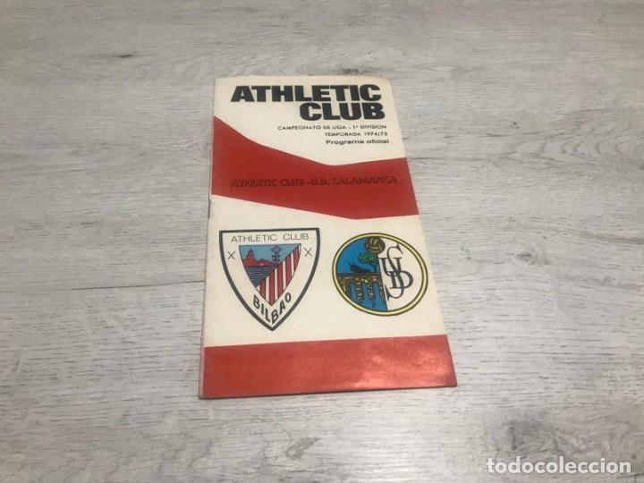 PROGRAMA OFICIAL ATHLETIC CLUB DE BILBAO - U.D. SALAMANCA 74 - 75. (Coleccionismo Deportivo - Documentos de Deportes - Otros)