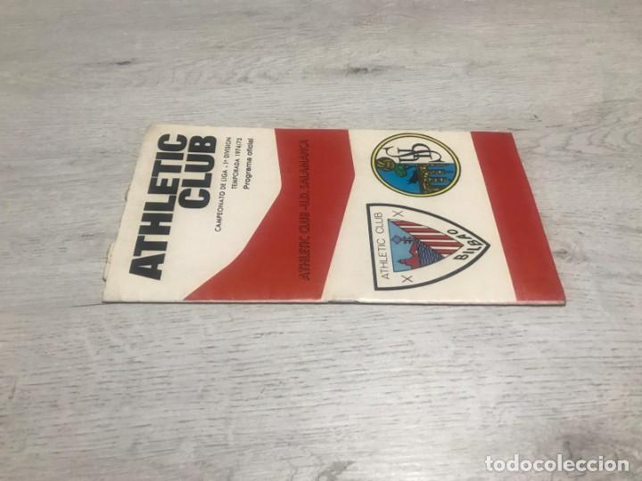 Coleccionismo deportivo: Programa oficial Athletic Club de Bilbao - U.D. Salamanca 74 - 75. - Foto 2 - 194749838