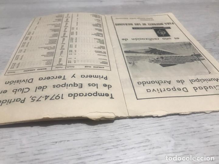 Coleccionismo deportivo: Programa oficial Athletic Club de Bilbao - U.D. Salamanca 74 - 75. - Foto 4 - 194749838