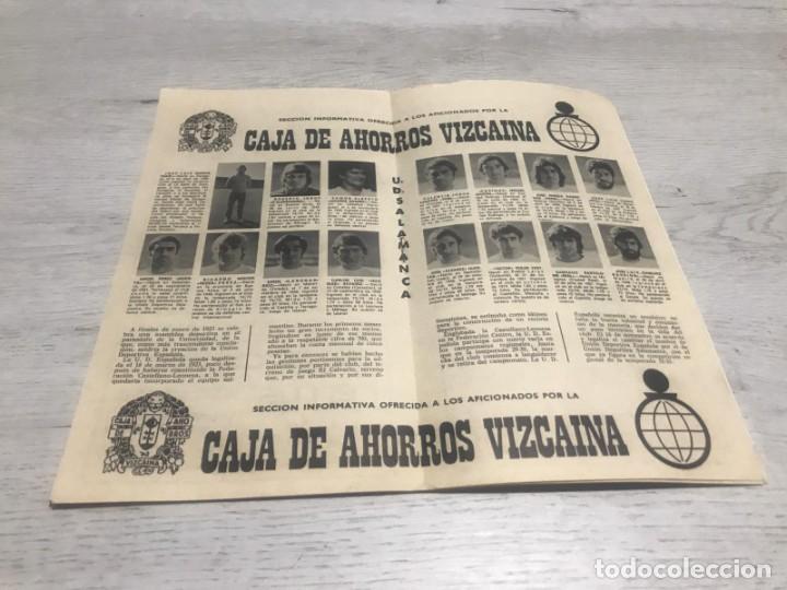 Coleccionismo deportivo: Programa oficial Athletic Club de Bilbao - U.D. Salamanca 74 - 75. - Foto 5 - 194749838