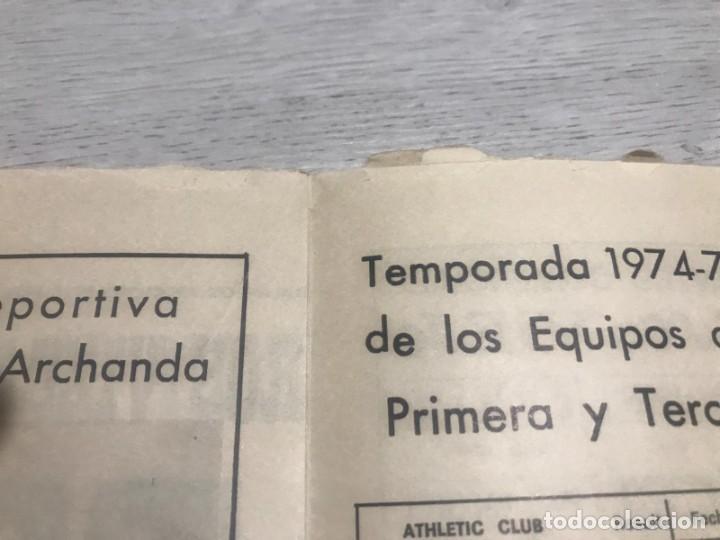 Coleccionismo deportivo: Programa oficial Athletic Club de Bilbao - U.D. Salamanca 74 - 75. - Foto 6 - 194749838