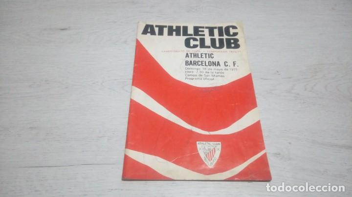 PROGRAMA OFICIAL ATHLETIC CLUB DE BILBAO - BARCELONA C. F. TEMPORADA 70 - 71. (Coleccionismo Deportivo - Documentos de Deportes - Otros)
