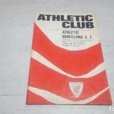 Coleccionismo deportivo: PROGRAMA OFICIAL ATHLETIC CLUB DE BILBAO - BARCELONA C. F. TEMPORADA 70 - 71.. Lote 194904718
