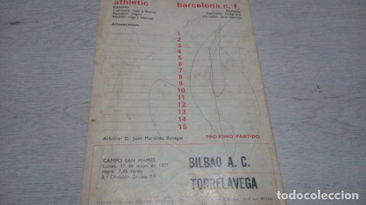 Coleccionismo deportivo: Programa oficial Athletic Club de Bilbao - Barcelona C. F. temporada 70 - 71. - Foto 2 - 194904718