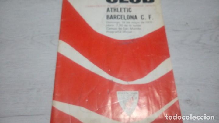 Coleccionismo deportivo: Programa oficial Athletic Club de Bilbao - Barcelona C. F. temporada 70 - 71. - Foto 5 - 194904718