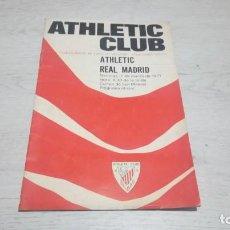 Coleccionismo deportivo: PROGRAMA OFICIAL ATHLETIC CLUB DE BILBAO - REAL MADRID TEMPORADA 70 - 71.. Lote 194904846