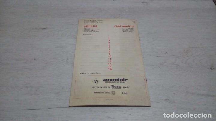 Coleccionismo deportivo: Programa oficial Athletic Club de Bilbao - Real Madrid temporada 70 - 71. - Foto 2 - 194904846