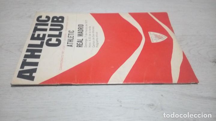Coleccionismo deportivo: Programa oficial Athletic Club de Bilbao - Real Madrid temporada 70 - 71. - Foto 4 - 194904846