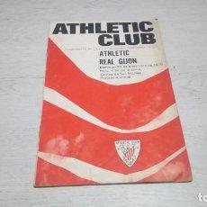 Coleccionismo deportivo: PROGRAMA OFICIAL ATHLETIC CLUB DE BILBAO - REAL GIJON TEMPORADA 70 - 71.. Lote 194904957