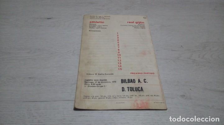 Coleccionismo deportivo: Programa oficial Athletic Club de Bilbao - Real Gijon temporada 70 - 71. - Foto 2 - 194904957
