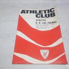 Coleccionismo deportivo: PROGRAMA OFICIAL ATHLETIC CLUB DE BILBAO - U. D. LAS PALMAS TEMPORADA 70 - 71.. Lote 194905023