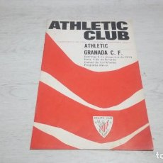 Coleccionismo deportivo: PROGRAMA OFICIAL ATHLETIC CLUB DE BILBAO - GRANADA C. F. TEMPORADA 70 - 71.. Lote 194905138