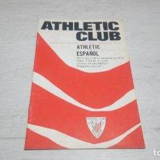 Coleccionismo deportivo: PROGRAMA OFICIAL ATHLETIC CLUB DE BILBAO - ESPAÑOL. TEMPORADA 70 - 71.. Lote 194905196