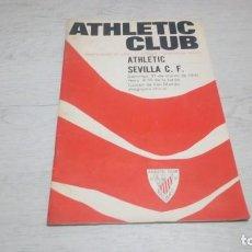 Coleccionismo deportivo: PROGRAMA OFICIAL ATHLETIC CLUB DE BILBAO - SEVILLA C. F. TEMPORADA 70 - 71.. Lote 194905251