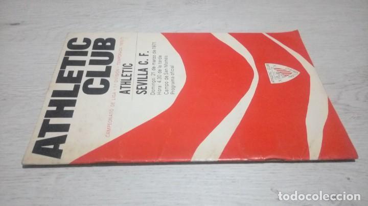 Coleccionismo deportivo: Programa oficial Athletic Club de Bilbao - Sevilla C. F. temporada 70 - 71. - Foto 4 - 194905251