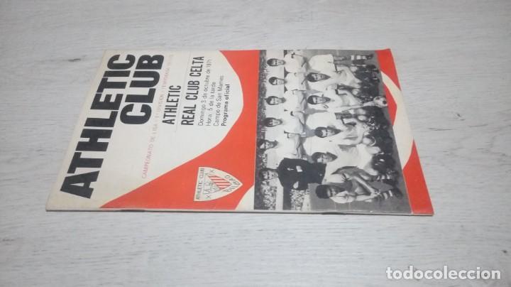 Coleccionismo deportivo: Programa oficial Athletic Club de Bilbao - Real Club Celta. temporada 71 - 72. - Foto 4 - 194905635
