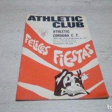 Coleccionismo deportivo: PROGRAMA OFICIAL ATHLETIC CLUB DE BILBAO - CORDOBA C. F. TEMPORADA 71 - 72.. Lote 194905665