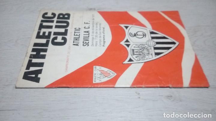 Coleccionismo deportivo: Programa oficial Athletic Club de Bilbao - Sevilla C. F . temporada 71 - 72. - Foto 5 - 194905696
