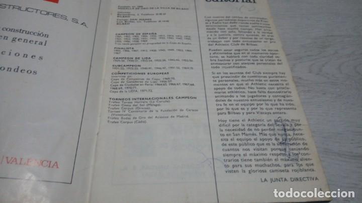 Coleccionismo deportivo: Programa oficial Athletic Club de Bilbao - Sevilla C. F . temporada 71 - 72. - Foto 6 - 194905696