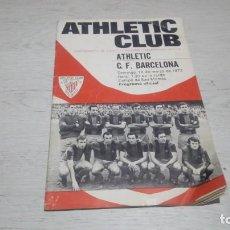 Coleccionismo deportivo: PROGRAMA OFICIAL ATHLETIC CLUB DE BILBAO - C. F BARCELONA. TEMPORADA 71 - 72.. Lote 194905875