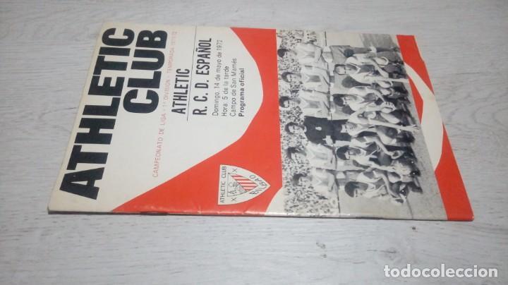 Coleccionismo deportivo: Programa oficial Athletic Club de Bilbao - R. C. Español. temporada 71 - 72. - Foto 4 - 194905933