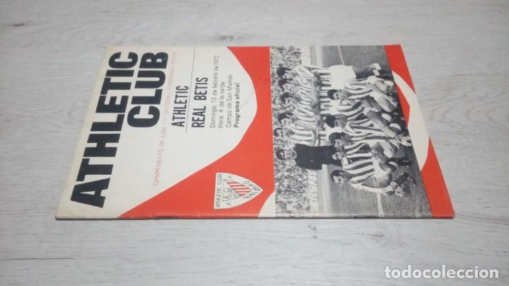 Coleccionismo deportivo: Programa oficial Athletic Club de Bilbao - Real Betis. temporada 71 - 72. - Foto 4 - 194906007