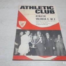 Coleccionismo deportivo: PROGRAMA OFICIAL ATHLETIC CLUB DE BILBAO - VALENCIA C. DE F. TEMPORADA 71 - 72.. Lote 194906105