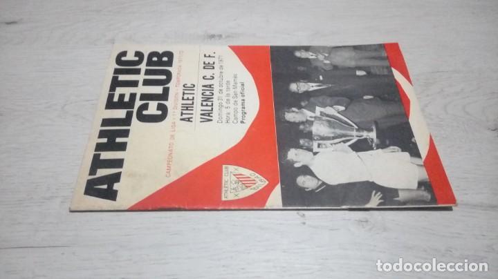 Coleccionismo deportivo: Programa oficial Athletic Club de Bilbao - Valencia C. DE F. Temporada 71 - 72. - Foto 4 - 194906105